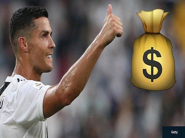 Giật mình với mức lương của Ronaldo được nhận?