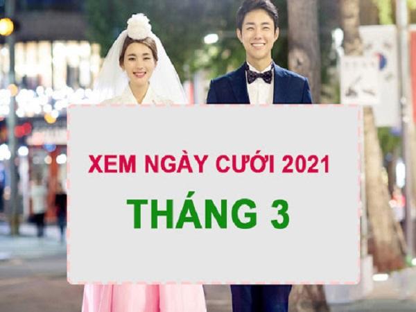 Xem ngày cưới tháng 3 năm 2021 cho 12 con giáp